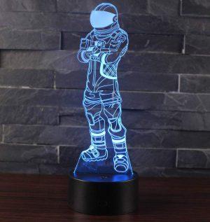 3D Lámpara de Escritorio Win-Y LED 7 del tacto del color de la lámpara del dormitorio del hogar decoración