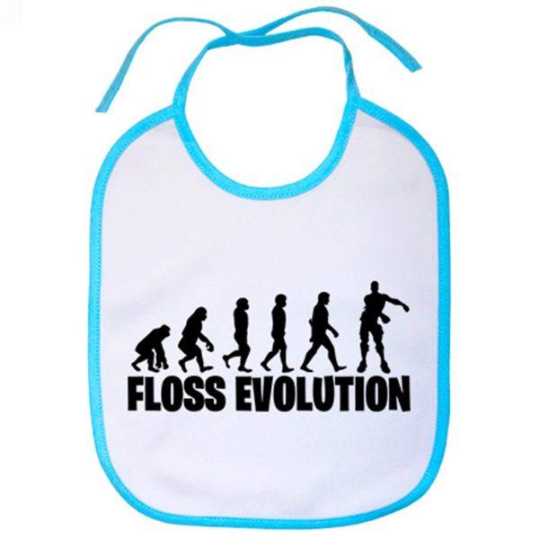 Babero Floss Evolution - Celeste