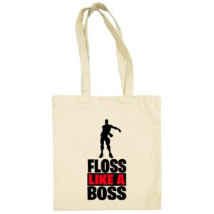 Bolsa de Tela Floss Like A Boss - Beige
