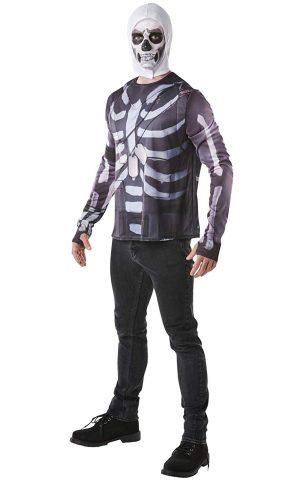 Fortnite - Disfraz Skull Trooper para Adultos, Solo Camisa
