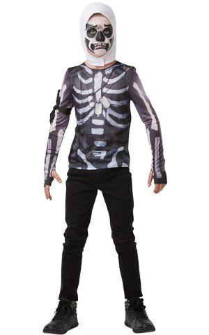 Fortnite - Disfraz Skull Trooper para Niños, Solo Camisa