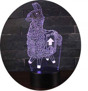 Leisu 3D Lámpara LED luz de la noche 7 cambiar el color botón táctil regalo de Navidad para el Hogar Decoración para Niños Mejor Regalo (A10) [Clase de eficiencia energética A]