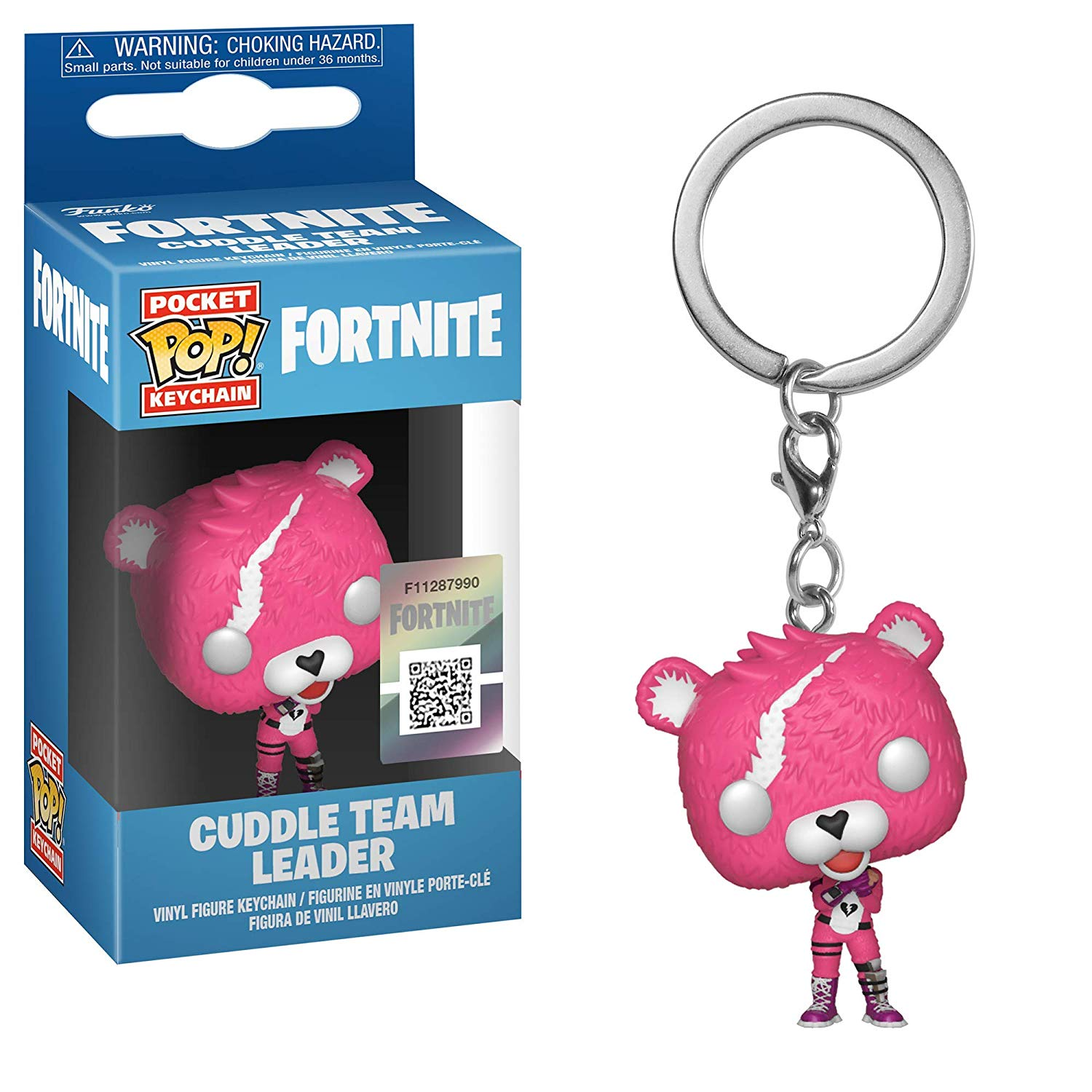 Pocket Pop Keychain Fortnite Cuddle Team Leader