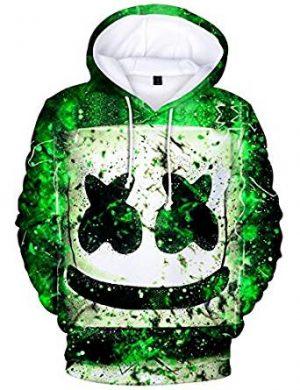 Sudadera con Capucha Marshmello DJ 3D Vistoso Impresión Música Hoodie